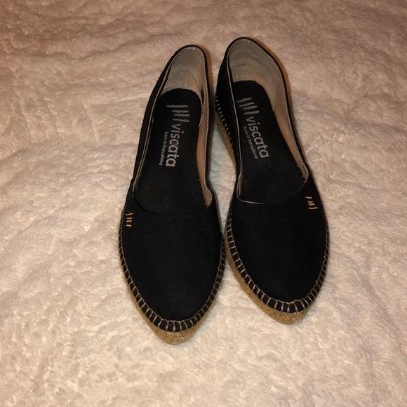 072226ce5 Viscata Shoes | Flat Wedge Espadrilles Black Size 37 | Poshmark
